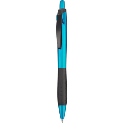 The Skyline Ball Pen in the colour cyan, and comes with black ink.