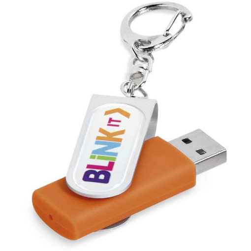 The Atlanta Memory Stick has a capacity of 4GB and is available in the colour orange.