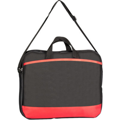The Congress Conference Laptop Bag With Red Detailing.