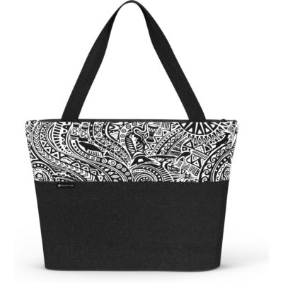 Black and white tribal bag with beautiful black straps