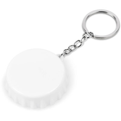 The Cheers Bottle Opener Keyholder in solid white, made from abs and iron.