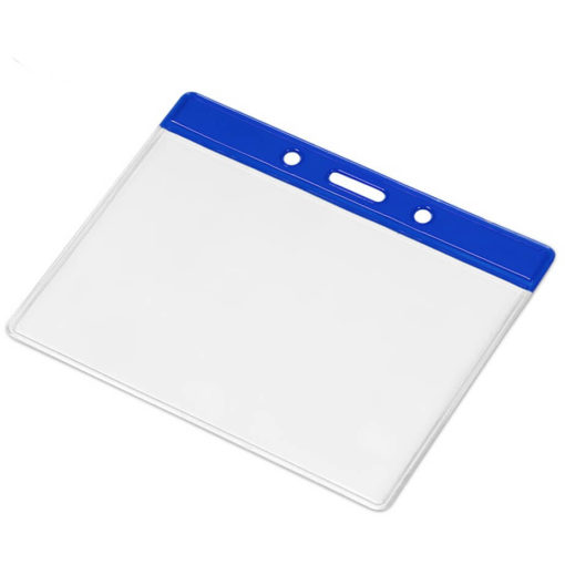 The Symposium Lanyard Pouch in the colour blue, made from PVC.