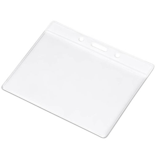The Symposium Lanyard Pouch in the colour white, made from PVC.