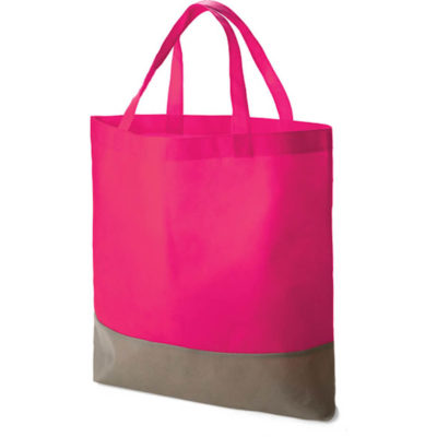 The Armada Tote bags in the colour pink made from non-woven material.