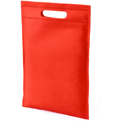 The Dayminder Mini Bag in the colour red made from non woven material.