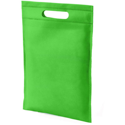 The Dayminder Mini Bag in the colour lime green made from non woven material.