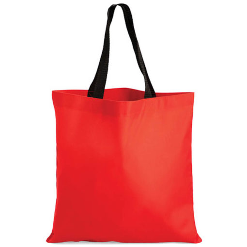The Kira Tote bags is made from polyester material in the colour red.