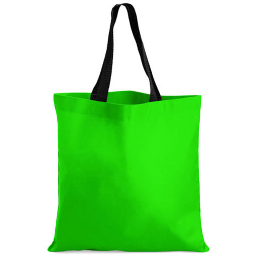 The Kira Tote bags is made from polyester material in the colour lime green.
