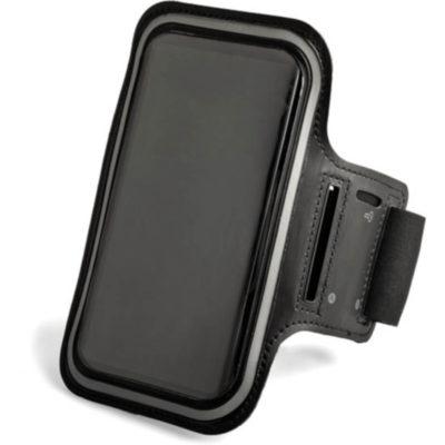 Black rectangular arm band strap made in PVC