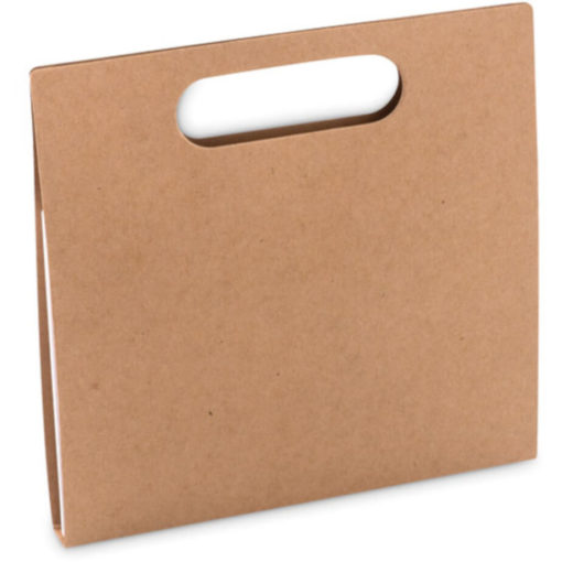 Super sleek wooden cardboard folder with handles