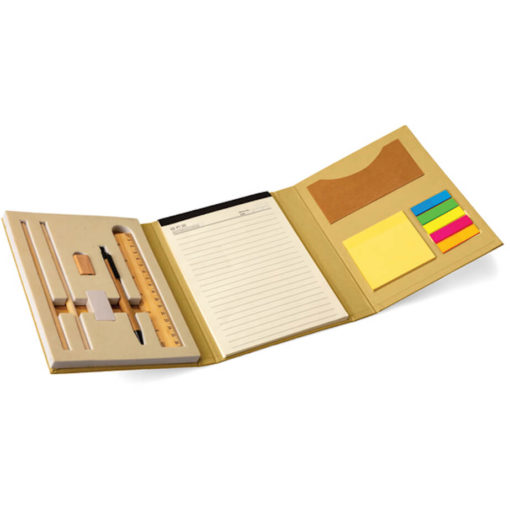 Sticky Notebook Set open on display, in the colour natural