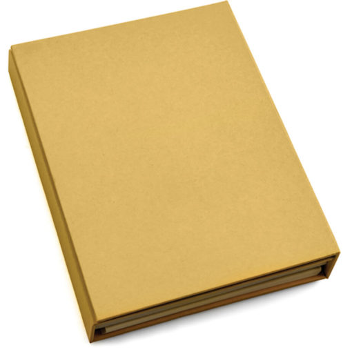 Sticky Notebook Set, in the colour natural which has a smooth surface for branding