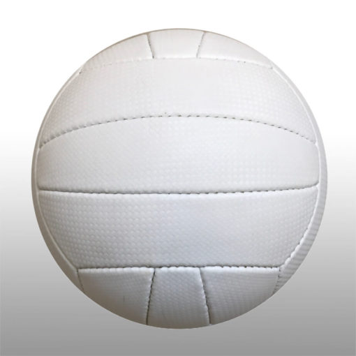 The Volleyball is a rubber poly cotton round ball with a butyl bladder, available in plain white and a size 5
