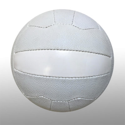 The Netball is a rubber poly cotton round ball with a butyl bladder, available in plain white and a size 5