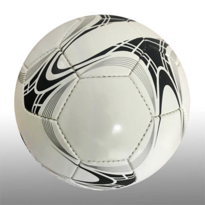 The 28 Panel Training Soccer Ball is a poly cotton and rubber ball with a 4ply surface for great durability. Available in white with black and silver detail
