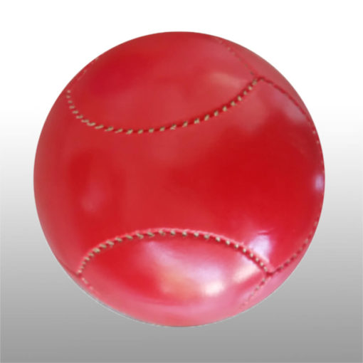 The 6 Panel Mini Soccer Ball is a poly cotton and rubber sports ball with a high air rention blasser. Available in red