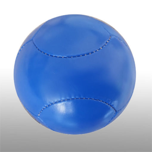 The 6 Panel Mini Soccer Ball is a poly cotton and rubber sports ball with a high air rention blasser. Available in blue