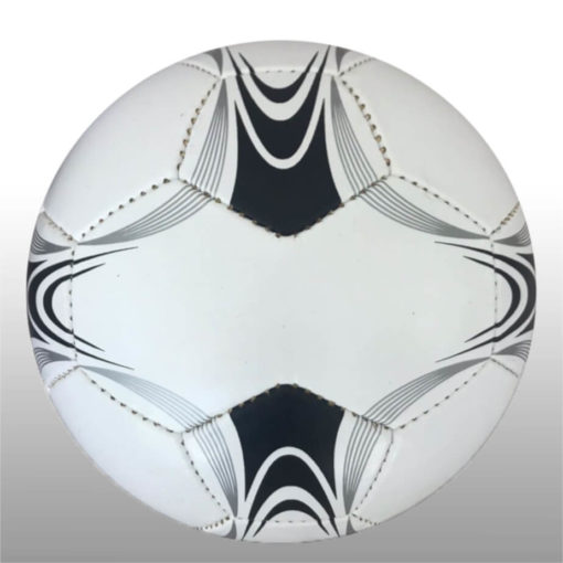 The 28 Panel Black and White Soccel Ball is a poly cotton and rubber soccer ball with four larger sezied panels for branding purposes. Available in white with black fineline detail with a splash of silver on alternating panels