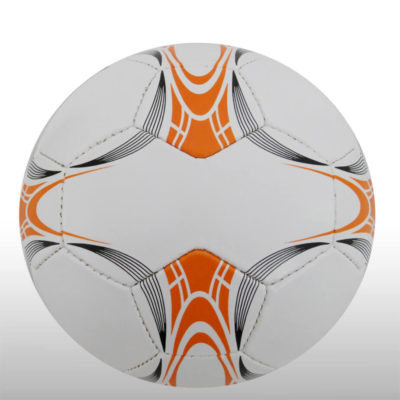 The 28 Panel Black and White Soccel Ball is a poly cotton and rubber soccer ball with four larger sezied panels for branding purposes. Available in white with black fineline detail with a splash of orange on alternating panels