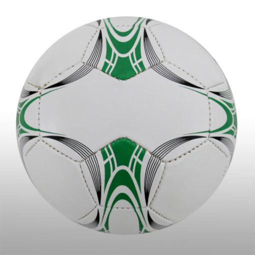 The 28 Panel Black and White Soccel Ball is a poly cotton and rubber soccer ball with four larger sezied panels for branding purposes. Available in white with black fineline detail with a splash of green on alternating panels