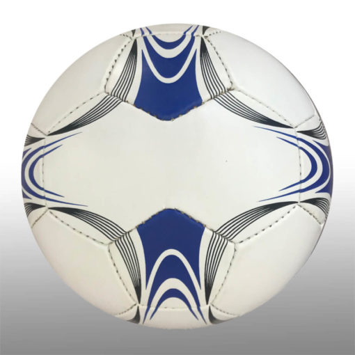 The 28 Panel Black and White Soccel Ball is a poly cotton and rubber soccer ball with four larger sezied panels for branding purposes. Available in white with black fineline detail with a splash of blue on alternating panels