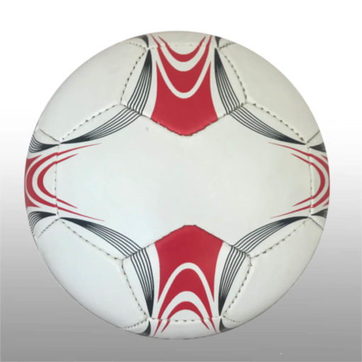 The 28 Panel Black and White Soccel Ball is a poly cotton and rubber soccer ball with four larger sezied panels for branding purposes. Available in white with black fineline detail with a splash of red on alternating panels
