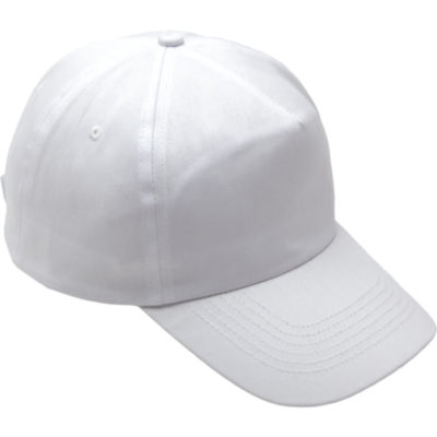 The 5 Panel Cotton with Hard Front Cap is a cotton twill peak cap with a pre curved peak and a velcro closure