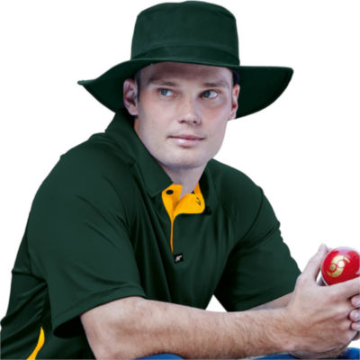 The Midfield Hat is a cotton twill fabric hat with a stiff brim and towelling sweatband making it ideal for playing cricket