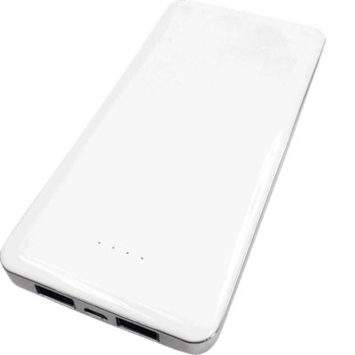 The High Capacity Powerbank has a battery capacity of 11000mAh and comes in a solid white body colour.