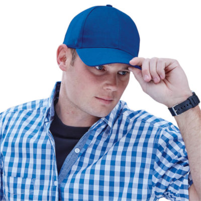 The 6 Panel Raven Cap is a synthetic acrylic cap with a structured 6 panel with a low profile pre curved peak and a velcro closure