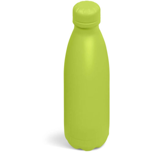 The Kooshty Wahoo Vacuum Water Bottle in a full lime colour.