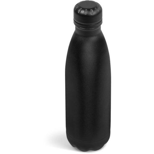 The Kooshty Wahoo Vacuum Water Bottle in a full black colour.