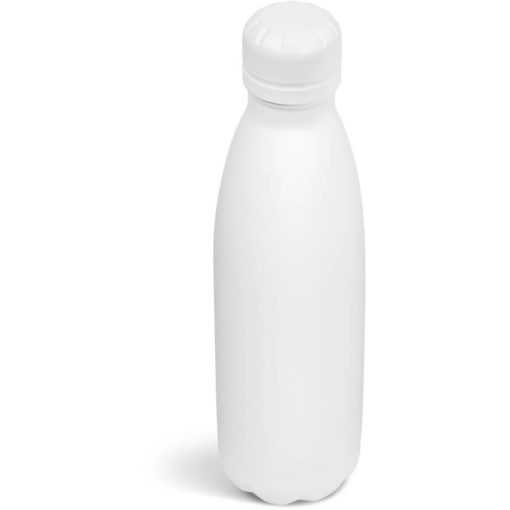 The Kooshty Wahoo Vacuum Water Bottle in a full solid white colour.