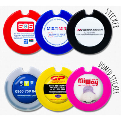 The Round License Disc is a plastic circular shaped licence disc holder with a surface for vinyl or dome sticker branding for personalisation.