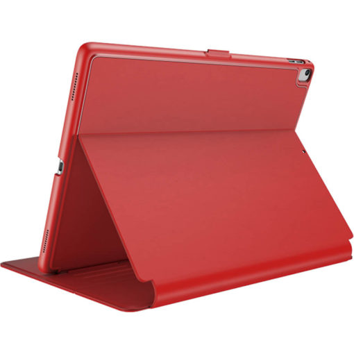 The Speck Balance Folio Case in the colour red can hold a 9.7inch iPad, its UV resistant, hard shell to give you all round protection. Has a 1 year warranty.