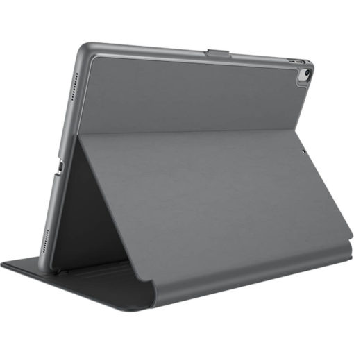 The Speck Balance Folio Case in the colour grey can hold a 9.7inch iPad, its UV resistant, hard shell to give you all round protection. Has a 1 year warranty.