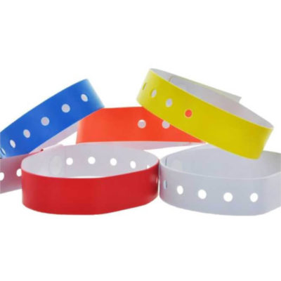 The Vinyl Extra Slim Wristbands are available in a variety of matt colours and display what the item will look like around your wrist
