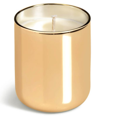 The Romance Glass Candle is 220g and comes in the colour gold with a velvet rose fragrance.