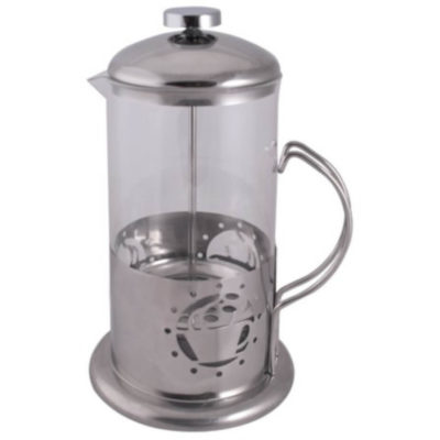 The French Press Coffee Plunger can hold 1000ml which is made from heat resistant glass and metal.