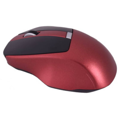 The New Generation Wireless Mouse in the colour red is made from ABS plastic and has a 10 meter receiving distance.