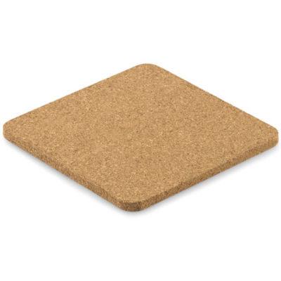The Square Coaster is made from cork and available in a beige colour. This product is Eco-friendly.