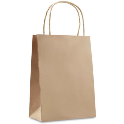 This Medium Paper Bag is eco-friendly, made from paper and available in a beige colour.