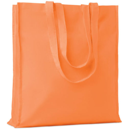 The Cotton Colour Shopper has long carry handles with added gussets, made from cotton and available in orange.