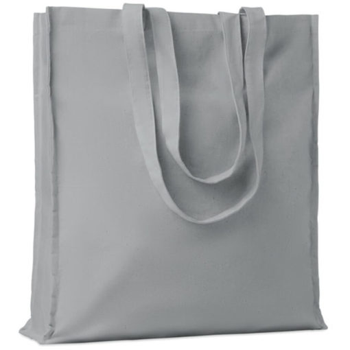 The Cotton Colour Shopper has long carry handles with added gussets, made from cotton and available in grey.
