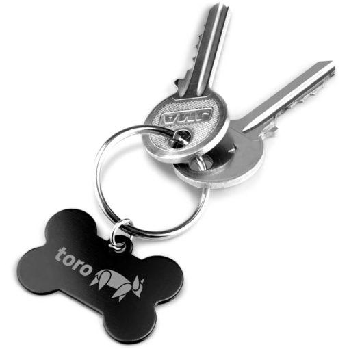 The Toby Keyholder is a black bone shaped keyring.