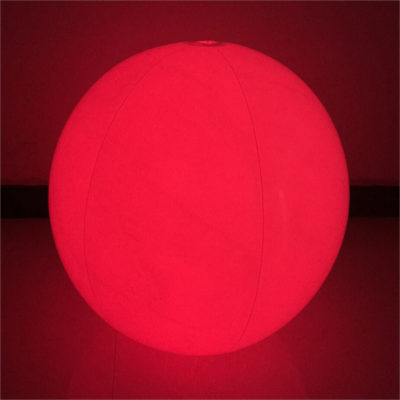 The 1.5m LED Beach Ball is a PVC inflatable lightweight ball with an internal LED that lights up to a colour of your choosing. Red LED on display