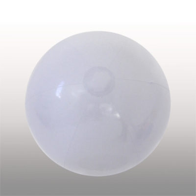 The 1.2m Beach Ball is a PVC solid white inflatable light weight beach ball. Large in size