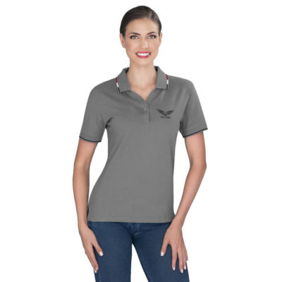 The Ladies Ash Golf Shirt is made from 100% combed cotton fabric, available in different colours and sizes.