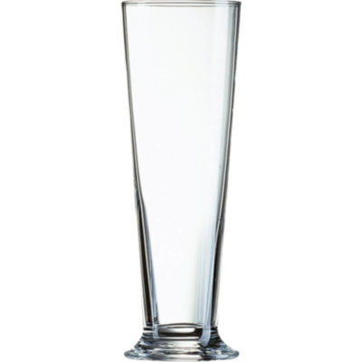 The Linz Glass is a tall drinkware glass with a 390ml capacity made from glass with a thick base