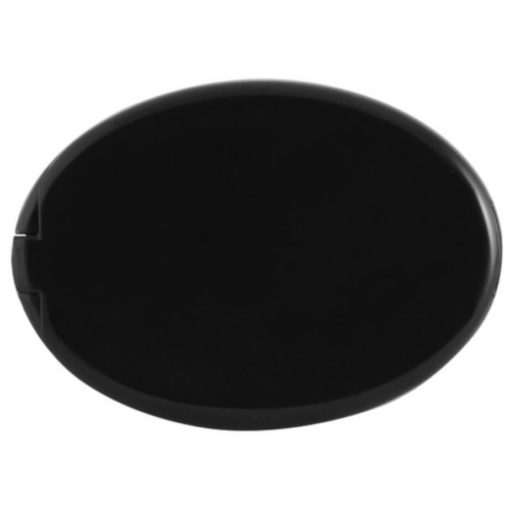 The Sewing Kit & Mirror is a black plastic oval kit with a flip up lid to reveal a mirror on one side and a mini sewing kit on the other